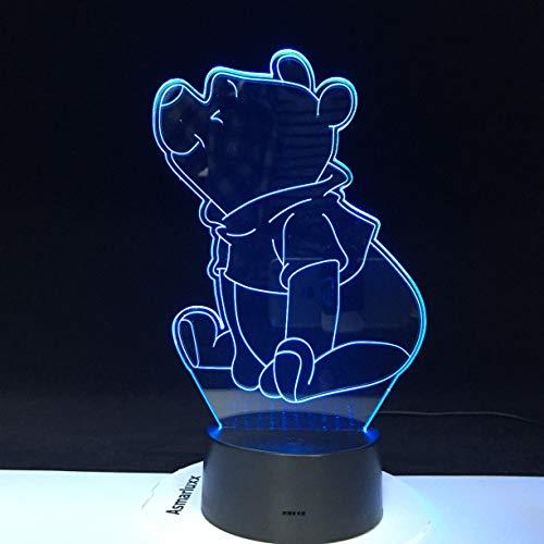 jiushixw 3D acryl nachtlampje met afstandsbediening kleurverandering lamp tiener zijn lieblings grove bedkoplook oranje retro tafellamp