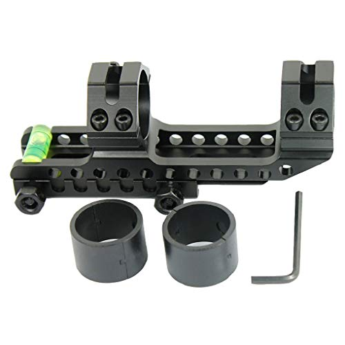 West Lake 30mm Offset Cantilever Dual Ring Scope Mount Fits 1 inch Scopes with Ring Reducers
