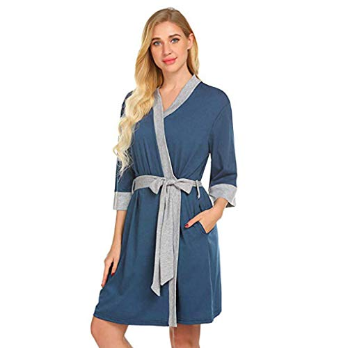 WYJW Maternity Nursing Robe Delivery Nightgowns Hospital Breastfeeding Gown Luxurious Fluffy Ladies Dressing Gown in Super Soft Fleece Grey for WomenGifts for Mum