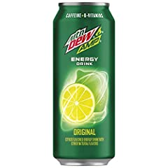 Experience the bold charge and citrus flavor of original AMP At MTN DEW AMP ENERGY, we believe that energy drinks should taste great; They should energize your taste buds as well as your body 142 milligrams of caffeine per can Original