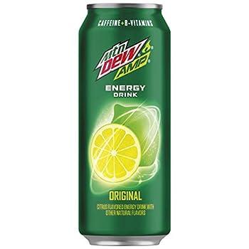 Amp Energy Original Caffeine B Vitamins 16 Fl Oz Cans  12 Pack