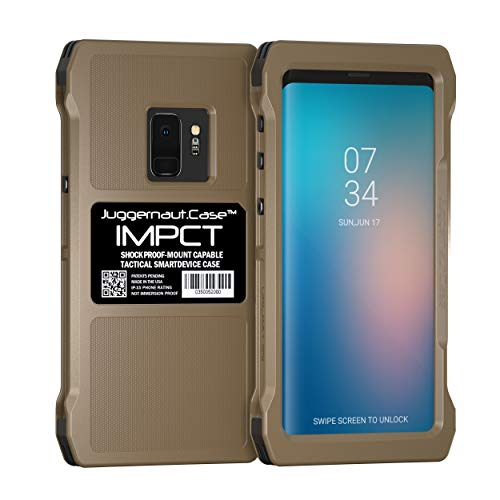 Juggernaut.Case IMPCT for Samsung Galaxy S9 - Military Grade, Tactical Smartphone Phone Case, Made in USA - Flat Dark Earth