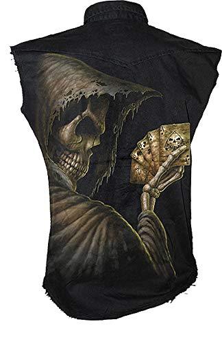 Spiral Work-Shirt Dead Mans Hand - Cool Work-Shirt met rondom print - Workwear voor bikers - Rockabillys en echte monteurs