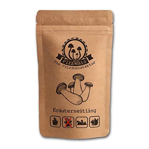 PilzWald Kräuterseitlinge Pilzzucht - 25 Myzel Pilzdübel - Für Stroh, Pilzbeet & Kaffeesatz - DIY Pilzbrut zum selber züchten mit Anleitung