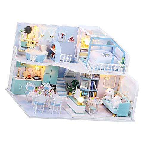 tanbea-DE DIY 3D Holz Miniatur Puppenhaus 3D-Puppenhaus-Miniatur-Kit aus Holz zum Bauen, Mini-Hausmodell-Kit Für Romantisches Kunstwerkgeschenk (Heiligabend)