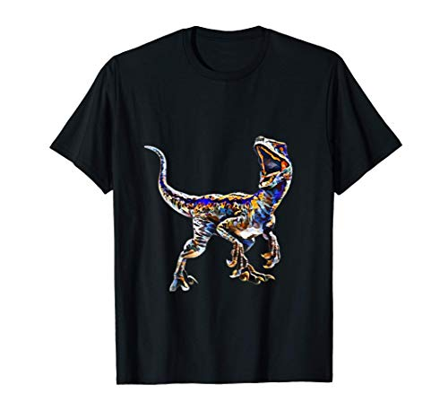 Raptor Dinosaurier Shirt Saurier Urzeit Damen Herren Kinder T-Shirt