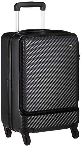 [ハント] スーツケース マイン ストッパー付き ジッパータイプ 48cm 33L 機内持込みサイズ フロントオープンタイプ 05744 機内持ち込み可 34L 48 cm 3.3kg パンジーブラック