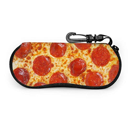 Fresh Italian Classic Original Pepperoni Pizza Bac Funda para gafas de sol para niños Funda única para gafas de sol Estuche ligero portátil con cremallera Estuche blando para niña Estuche para gafas