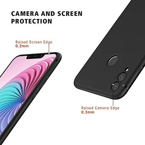 BENNALD Hülle für Honor 8X Hülle, Soft Silikon Schutzhülle Case Cover - Premium TPU Tasche Handyhülle für Huawei Honor 8X (Schwarz,Black) - 4