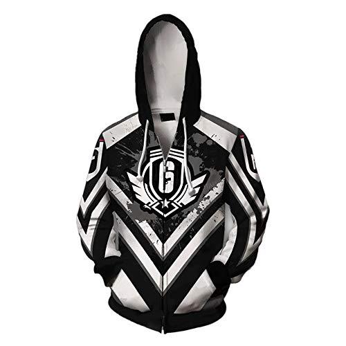 Preisvergleich Produktbild IDEALcos Spiel Cosplay Hoodie Sweatshirt Kostüm Halloween Cosplay Zipper Jacket (XL,  Schwarz)