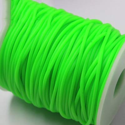 54 Yards 2mm Manual Weaving Rubber Rope Colorful Elastic Hollow Silicone Cords for DIY Bracelet Necklace Jewelry Accessories Making DIY Bead Fitting Bracelet Making Cords Crafts-Rubber Silicone Rope