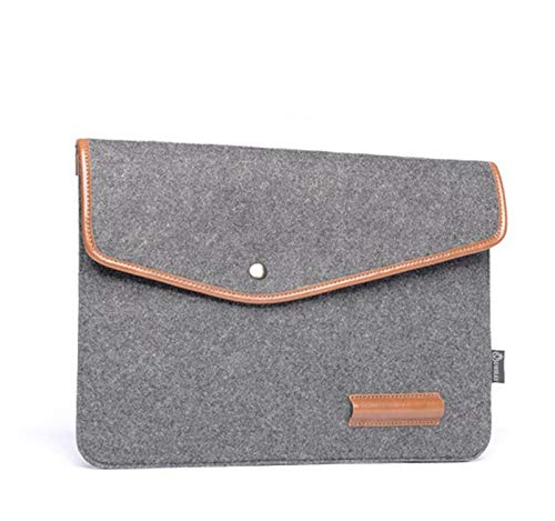 13-15 Inch Felt Laptop Sleeve Portable MacBook Case Protector (13.3 inch, Dary Grey)