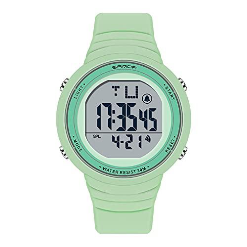 LJSF Relojes de Simulación Digital, Moda Simple Student Reloj Electrónico a Prueba de Agua LED Reloj de Pulsera de Pantalla Grandecon Alarma Pantalla Luminosa, para Damas,Set5