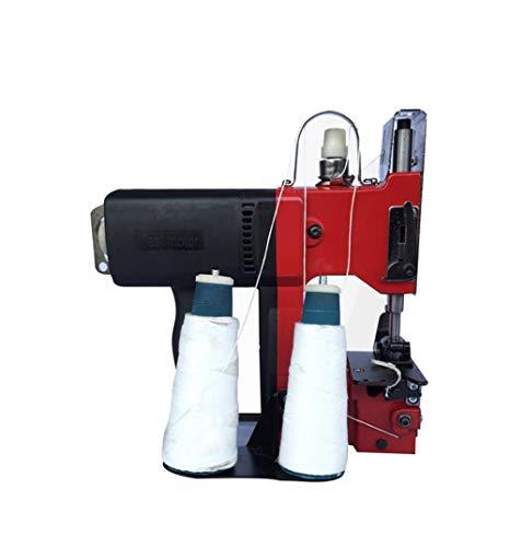 Hanchen Máquina de Coser Bolsas Portátil Máquina de Embalaje Automática 190W con Doble Aguja/Doble Hilo para Cerrar Bolsas Tejidas/Saco/Bolsas de Algodón