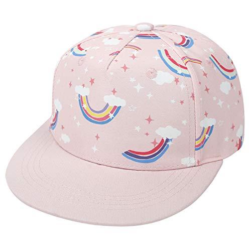 Yixda Baby Kappe Sonnenhut Kinder Hiphop Baseballmütze Junge Mädchen Snapback Cap (4-8 Jahre, Regenbogen)