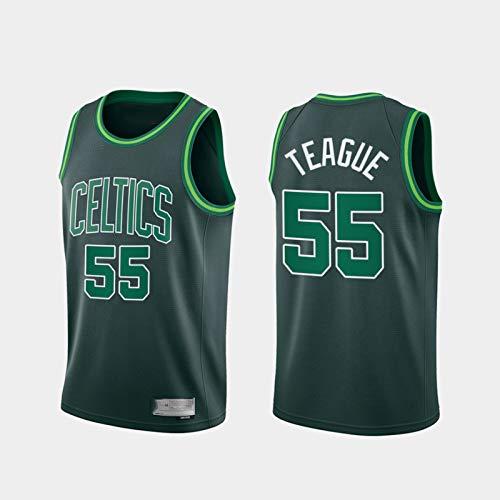Jerseys de Baloncesto para Hombres, NBA Boston Celtics 55# Jeff Teague Classic Swingman Jersey, Vintage Cool Tela Transpirable All-Star Unisex Uniforme,L