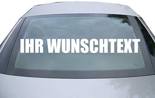 INDIGOS UG® Aufkleber mit Wunschtext für die Heckscheibe - bis 20 cm - Auto Domain Beschriftung Schriftzug Cartattoo