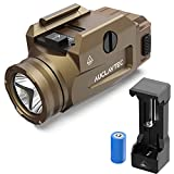 AUCLAYTEC Tactical Pistol Light, 600 Lumens Compact Rail Mount Tactical Flashlight with Strobe with Rechargeable Battery and Charger Fits for Picatinny MIL-STD-1913 Glock