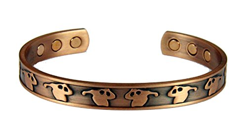 4031728 Solid Copper Magnetic Cuff Bracelet Bangle Golfer Design Balance Strength Health Game of Golf