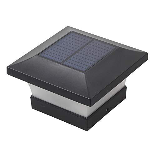 Moligin - Luz solar LED para columna, luz cálida, resistente al agua, para puerta de jardín, valla, patio, cabaña, etc