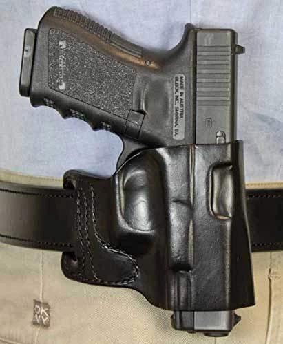 Gunhide, 115, E-GAT Slide, Belt Holster, Fits SIG SAUER P365, Right Hand, Black Leather