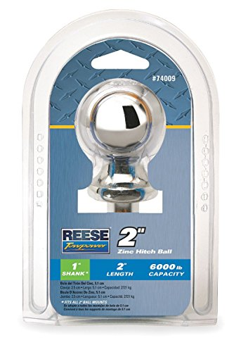 Fantastic Prices! Hitch Ball, Zinc Plated, GVWR 6000 Lb
