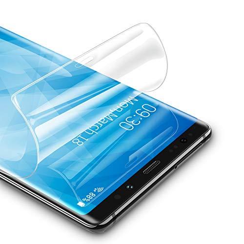 RIWNNI [3 Stück Schutzfolie für Samsung Galaxy Note 8, Ultra Dünn Weiche TPU Bildschirmschutzfolie (Nicht Panzerglas), HD Klar Bildschirmschutz Folie Full Screen für Samsung Galaxy Note 8 - Transparent