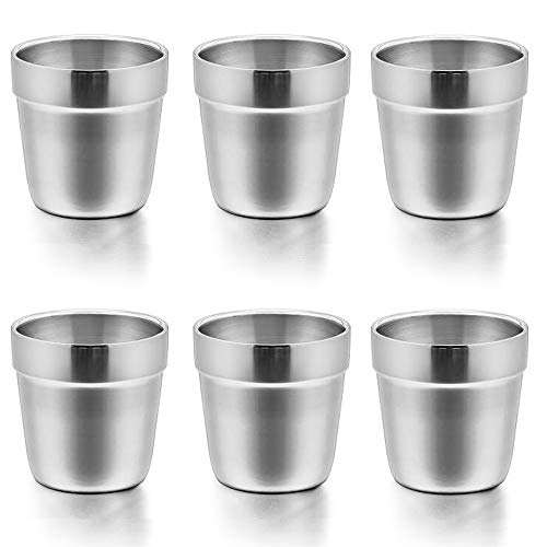 Cups for Toddlers Kids, E-far 6 Ounce Stainless Steel Insulated Tumblers for Children Preschoolers,...