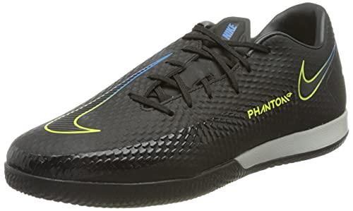 Nike Phantom GT Academy IC, Scarpe da Calcio Unisex-Adulto, Black/Black-Cyber-lt Photo Blue, 46 EU