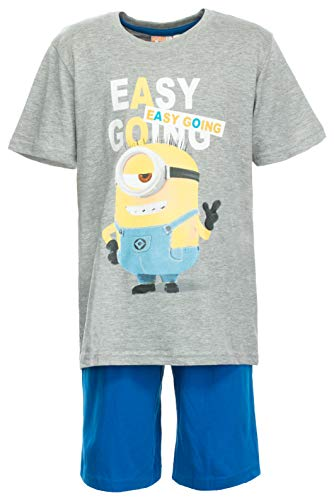 Brandsseller Jungen Schlafanzug Minion Pyjama Freizeitanzug Set - Shirt und Short 134/140
