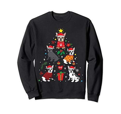 Französische Bulldogge Weihnachten Hundebaum Geschenk French Sweatshirt