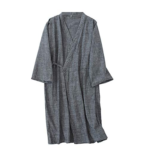 Trajes de Estilo japonés de los Hombres de algodón Puro Kimono Robe Albornoz Pijamas # 05