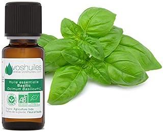 Huile Essentielle BIO de Basilic - 100% Pure et Naturelle – HEBBD et ECOCERT - Possède de Nombreuses Propriétés en Aromath...