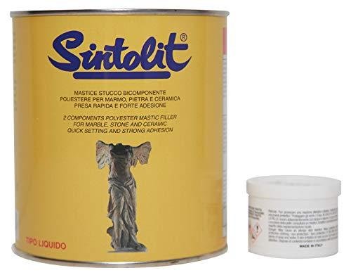 Sintolit - Mármol/cerámica - Masilla líquida para mármol y cerámica - Bicomponente...