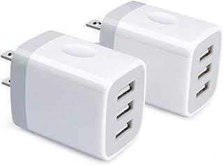 3ポートUSB充電器 2個セット Viviber USB ACアダプター iPhone充電器 iPhone usbコンセント アンドロイド急速充電器 タイプc充電器 usb電源アダプター 携帯充電器 スマートフォン急速充電器 3.1A出力Ty...