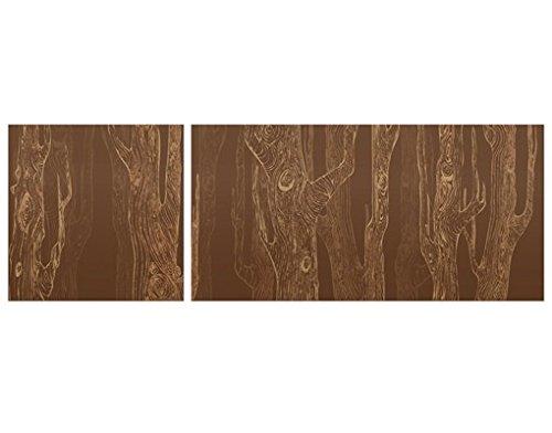 Bilderwelten Corner Impression sur toile no.MW20 Living Forest Panorama 1:2, toile, impression photo sur toile xxl, Options de couleur No.MW20 Wohnwald: Gris Anthracite, Photo sur toile pliable: Angle extérieur, Dimension: 80cm x 240cm