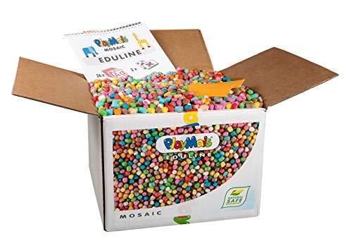PlayMais EDULINE Mosaic Insekten Bastel-Set für Kinder ab 3 Jahren   Motorikspielzeug mit 12.000 Stück & 3D Vorlagen zum Basteln & Lernen   Fördert Kreativität & Feinmotorik   Natürliches Spielzeug