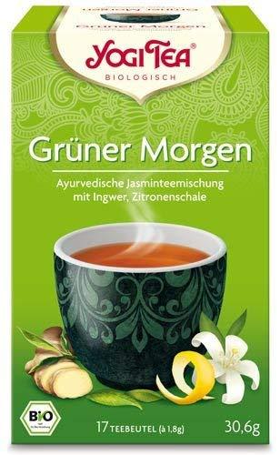 YOGI TEA Grüner-Morgen-Tee im Beutel (17 Beutel) - Bio