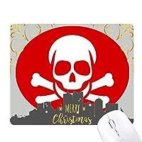 中毒赤の広場警告マーク クリスマスイブのゴムマウスパッド