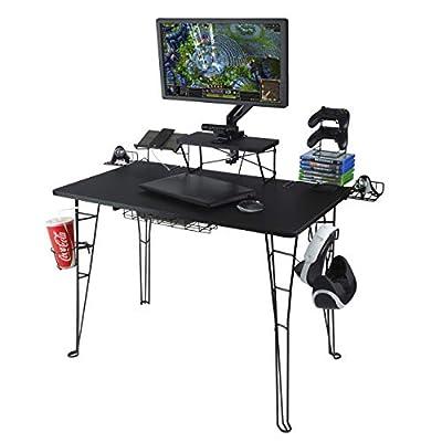 Atlantic Gaming Desk, Black from Atlantic