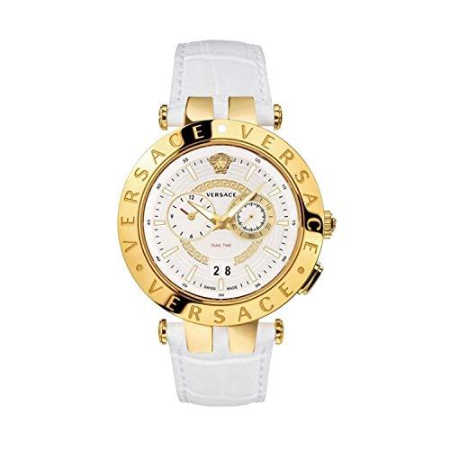 Versace Herren Armbanduhr Schweizer Uhr New V-RA.46MM.D/WHT S/WHT IP2NWHITE Leather Strap VEBV003 19