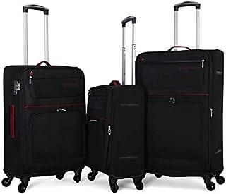 جيوردانو طقم حقائب سفر مع 4 عجلات , 3 حقائب , اسود - 161951