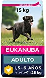 Eukanuba Alimento seco para perros adultos activos de raza grande, rico en...