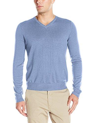 IZOD 45FS692 Men's Fine Gauge Solid V-Neck Sweater - Ocean - 2XL