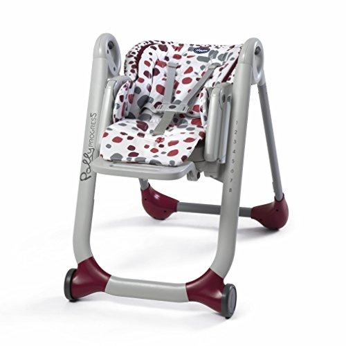 Chicco - Chaise Haute Evolutive Bébé Polly Progres5 - 4 Roues, Ajustable, avec Accessoires -...