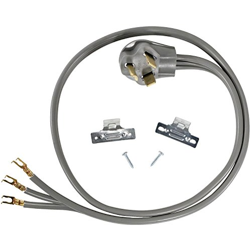 Certified Appliance Accessories 30-Amp Appliance Power Cord, 3 Prong Dryer Cord, 3 Wires with Open-End-Connectors, 4 Feet, Copper Wire