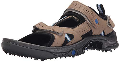 FootJoy Men's Golf Sandals Beige 10 M Shoe, Dark Taupe, US