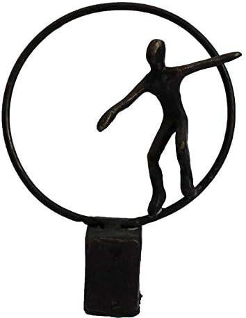 UJHNM Decor Sculpturesstatue Figurines Cast online shop Circle Crafts Iron S Daily bargain sale