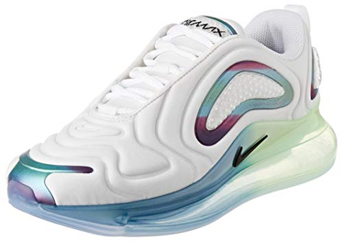 Nike Air Max 720 20, Scarpe da Corsa Uomo, Summit White/Black/White/Mtlc Silver, 43 EU
