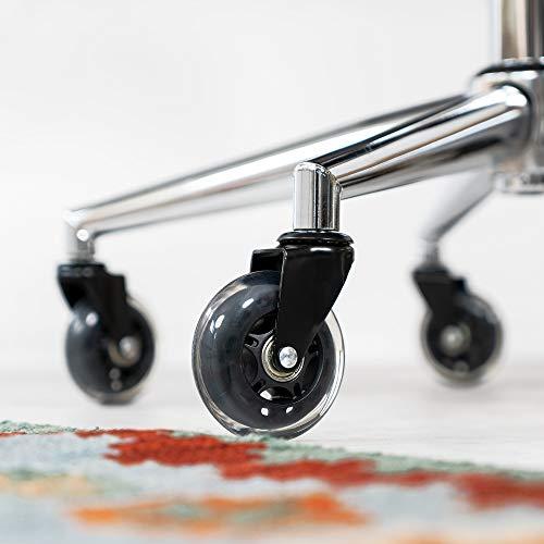 41OL3Jf1yxL. SL500  - kwmobile Ruedas para Silla de Oficina - Set de 5X Rueda de Repuesto giratoria Universal de Ø 75 MM para Escritorio Mesa sillas Muebles Mueble - Negro